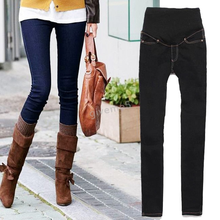 Hot Sale Maternity Jeans Pants For Pregnant Women Plus Size Clothing Pregnancy Clothes Motherhood Black/Blue 4sizes b14