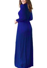 O-neck Solid Dress Vestidos