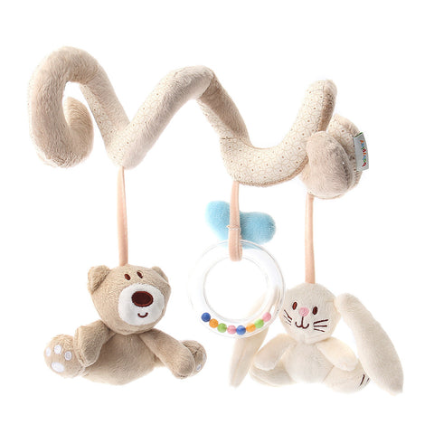 Kid Baby Infant Rattles Plush Animal Spiral Bed Stroller Hanging Doll Toy