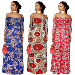 off the shoulder long dresses maxi