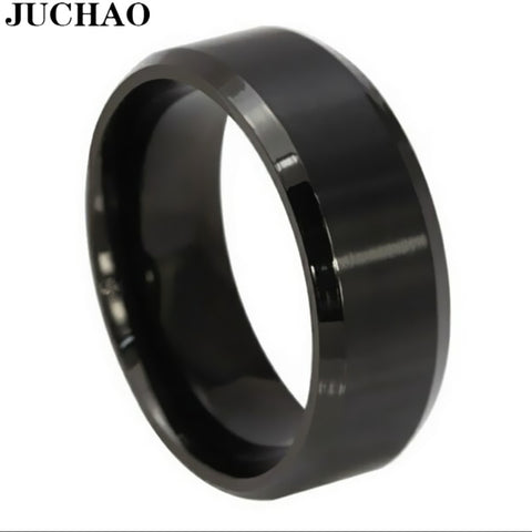 Classic Rings Men Titanium Steel Black