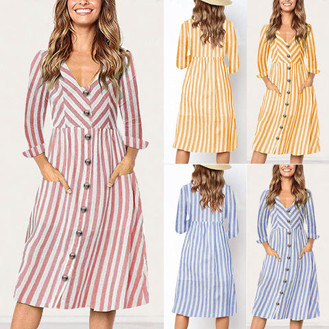 Casual Striped dress women