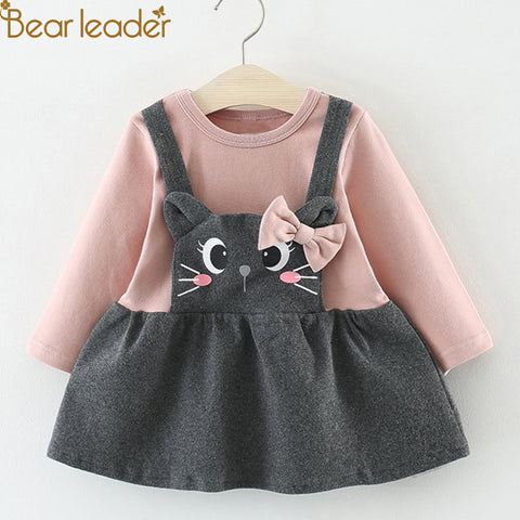 Bear Leader 2018 Hot Sal Girls Long Lleeve Dress Toddler Girl Winter Clothes Girls Dresses