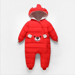 2018 New born Autumn Winter Jumpsuit girl winter coat clothes Baby thick warm Hooded jumpsuits  children snowsuit down clothing