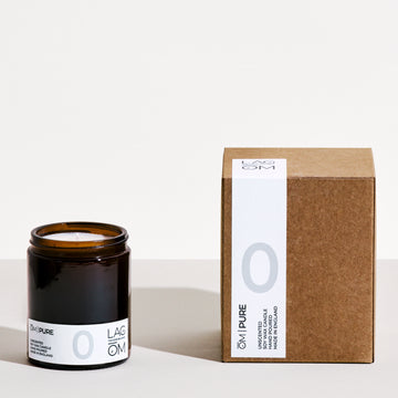 00. ŌM  PURE // (UNSCENTED) 170ML HAND POURED SOY WAX CANDLE