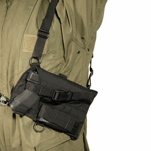 Universal Spec-Ops Pistol Har  Universal Spec-Ops Pistol Harness Black, Comfortable concealment on or off duty; fully adjustable harness system, Quick and efficient draw with a 45 set angle, Twin spare mag carriers provide extra ammo storage and balance, Dual retention thumb snap and adjustable belt attachment strap, Fully ambidextrous, One size fits most small, medium and large frame weapons