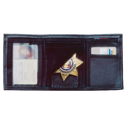 LEATHER TRIFOLD WALLET  Color: B Fit: A BIFOLD DOUBLED WINDOWED LETTER