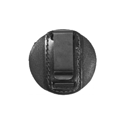 Round Clip-On Badge Holder  Clip-On Badge Holder Black Finish Holds badges up to 3-1/8 in. x 3-1/8 in.