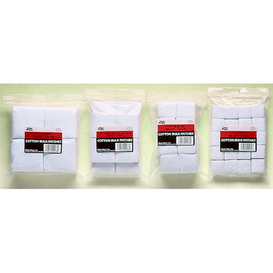 1-3/4 .28-.35 Caliber  Bulk Cotton Patches in SuperShooter Packs The same quality 100% cotton flannel patches, bulk-packaged for high volume users such as competition shooters, gun clubs, law enforcement agencies, gunsmiths, and others.