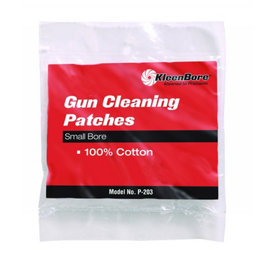 2-1/4 .38-.45 Caliber & 410-2  Premium quality 100% cotton flannel provides maximum absorbency and bore protection. These patches are precision cut to ensure the proper fit and maximum cleaning performance when used in conjunction with our cleaning jags.