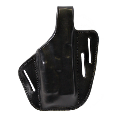3-Slot Pancake Holster for Full Size w/ Rail Light Finish: Plain Color: Black Hand: Right