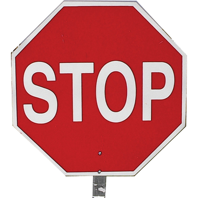 14  PADDLE SIGN - STOP/STOP