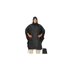 Black Military Ponchos Nylon Size: OSFM
