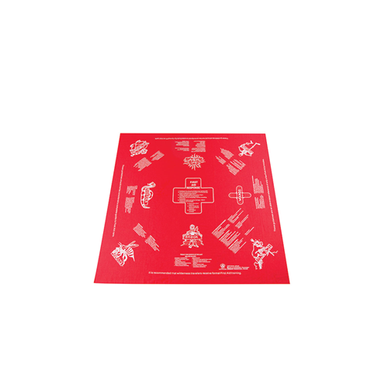 HANDKERCHIEF, 1ST AID SURVIVAL, RED