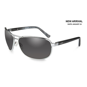 Wiley X WX Klein Sunglasses Silver Frame Grey Lens