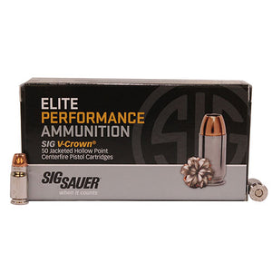 Sig Sauer 357SIG, 125GR, ELITE V-CROWN, JHP, BOX/50