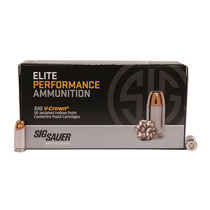 Sig Sauer 40SW, 180GR, ELITE V-CROWN, JHP, BOX/50