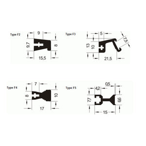 Ledge Handles -F2,3,4 & 5