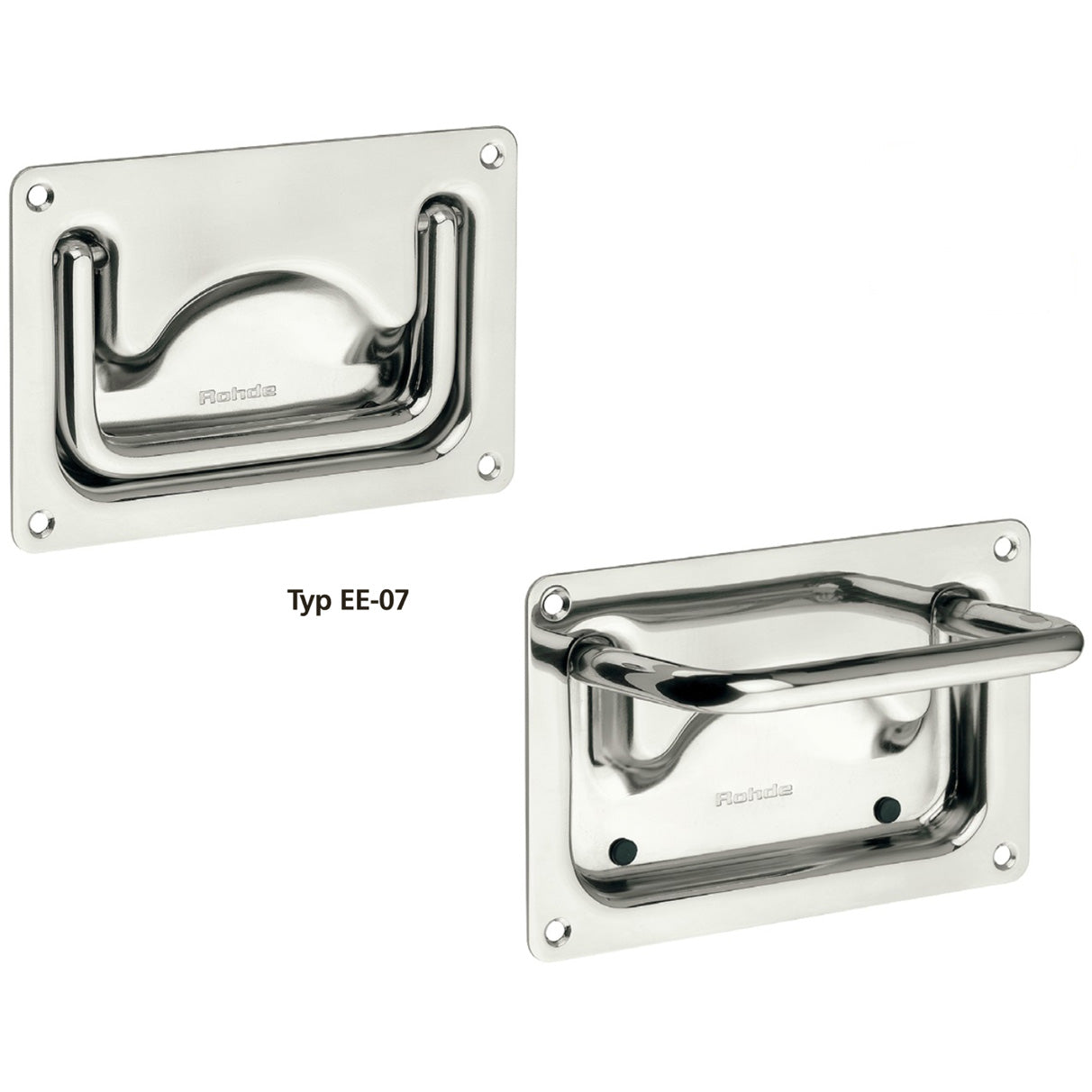 Tray / Recessed Handle Stainless Steel - EE07