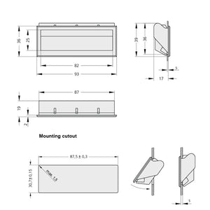 Tray / Recessed Handle Plastic - KM36