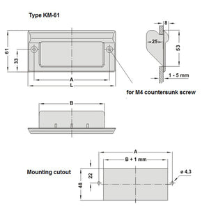Tray / Recessed Handle Plastic - KM61