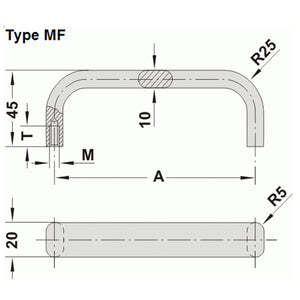 Aluminium Handle - MF
