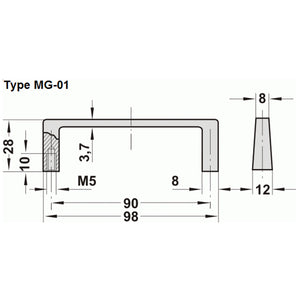Aluminium Handle - MG