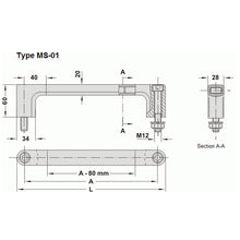 Component Handle Aluminium Handle - MS1