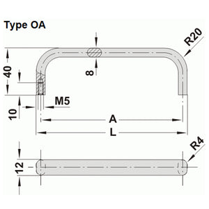 Aluminium Handle - OA
