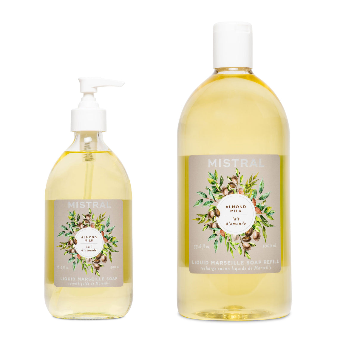 Almond Milk Liquid Marseille Soap Bundle