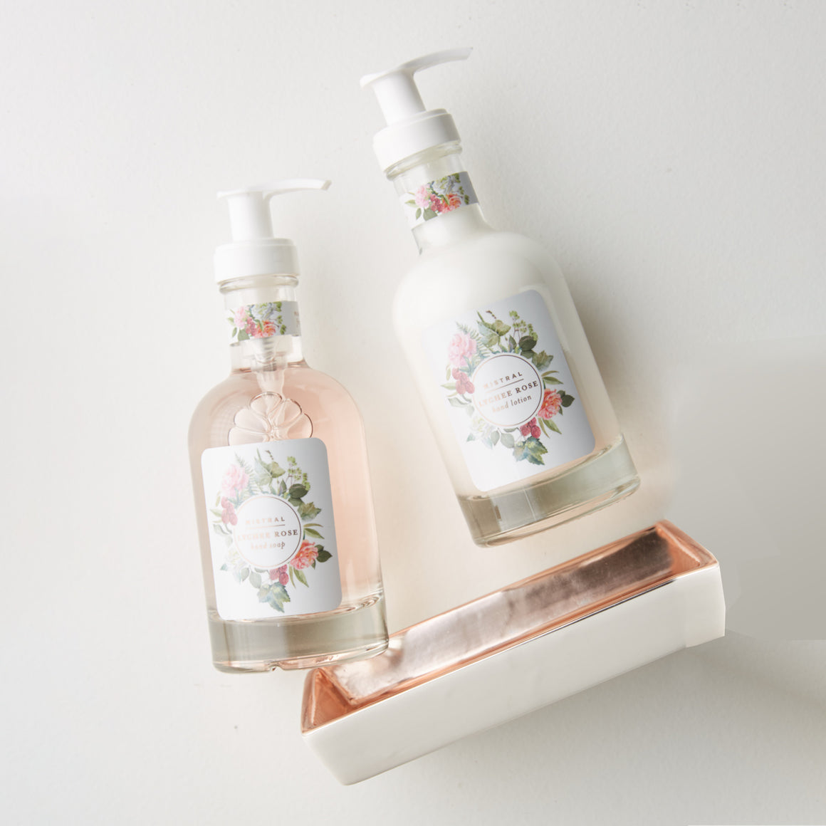 Rose Gold Classic Caddy Set- Lychee Rose