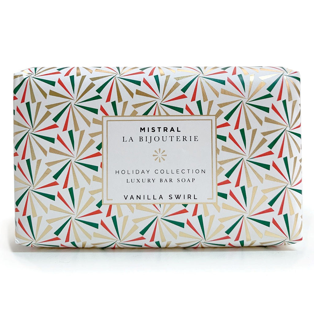 Vanilla Swirl Holiday Jewels Bar Soap