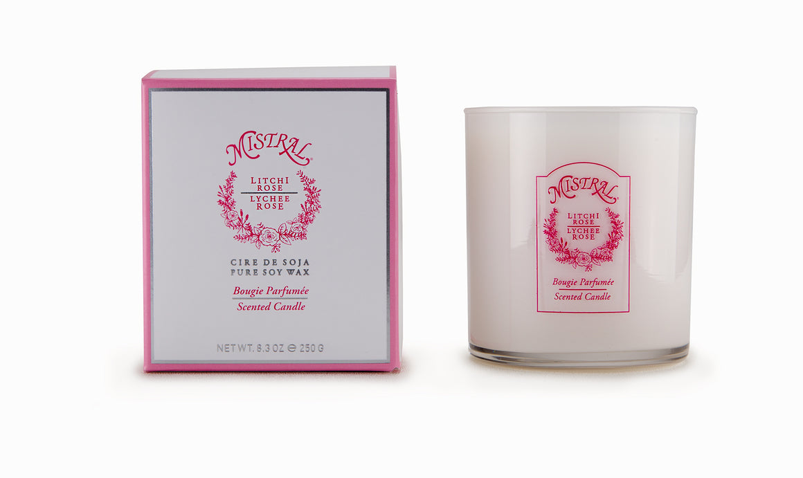 Signature Glass Lychee Rose Candle