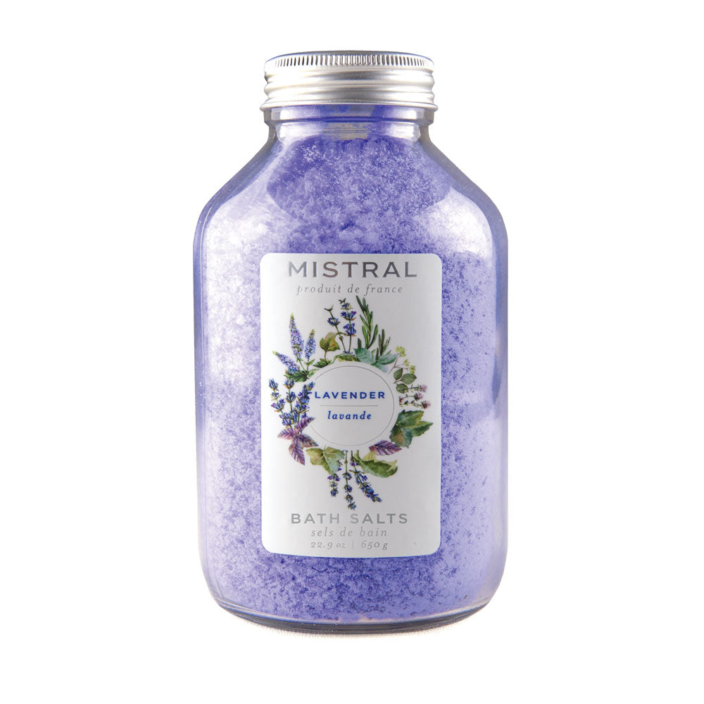 Lavender Classic Bath Salts Glass Bottle