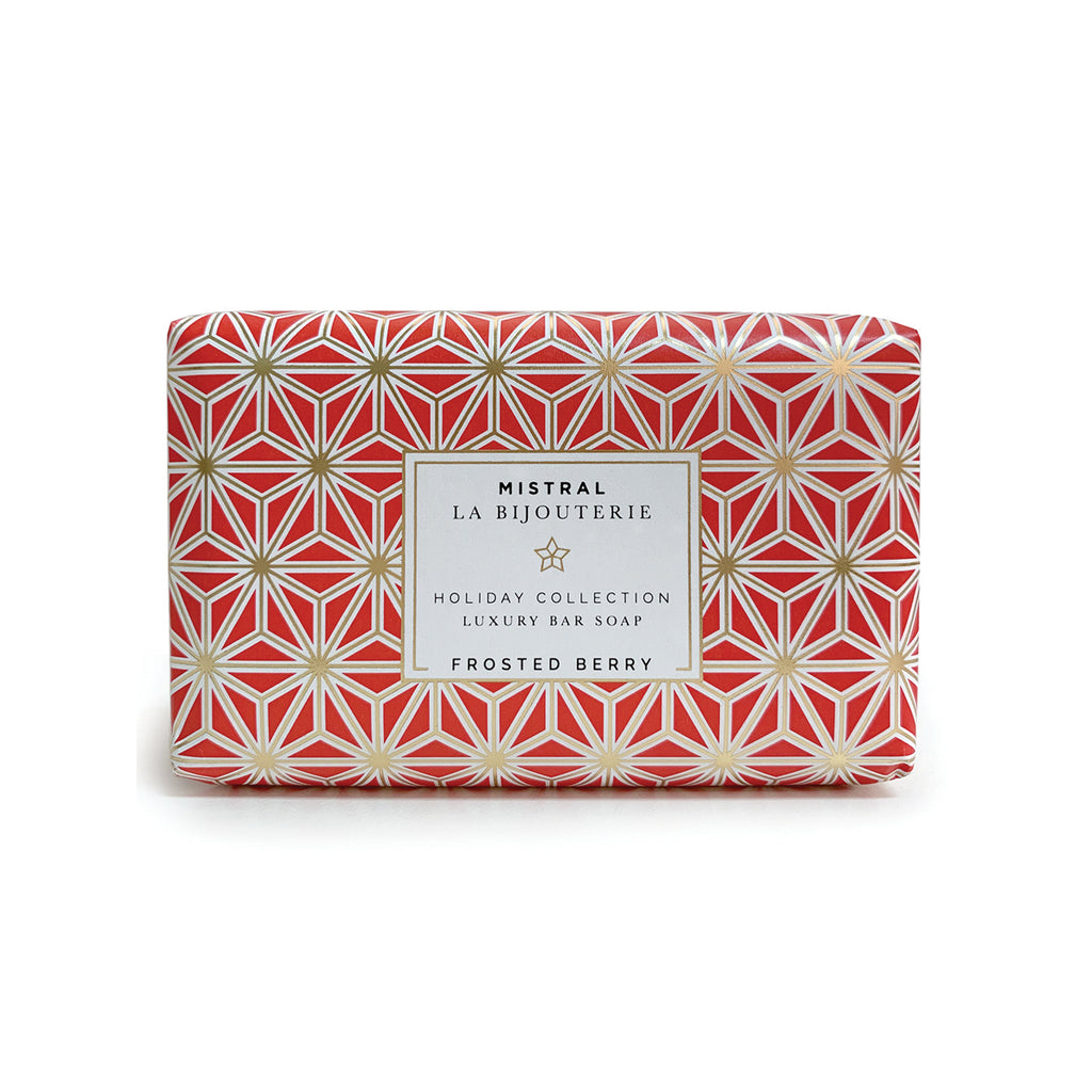 Frosted Berry Holiday Jewels 100g Bar Soap