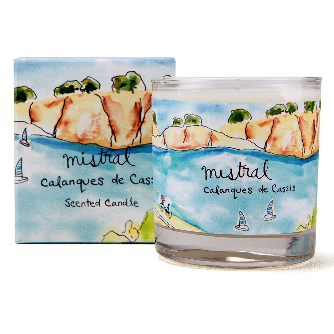 Calanques Marine Sur La Route Glass Candle