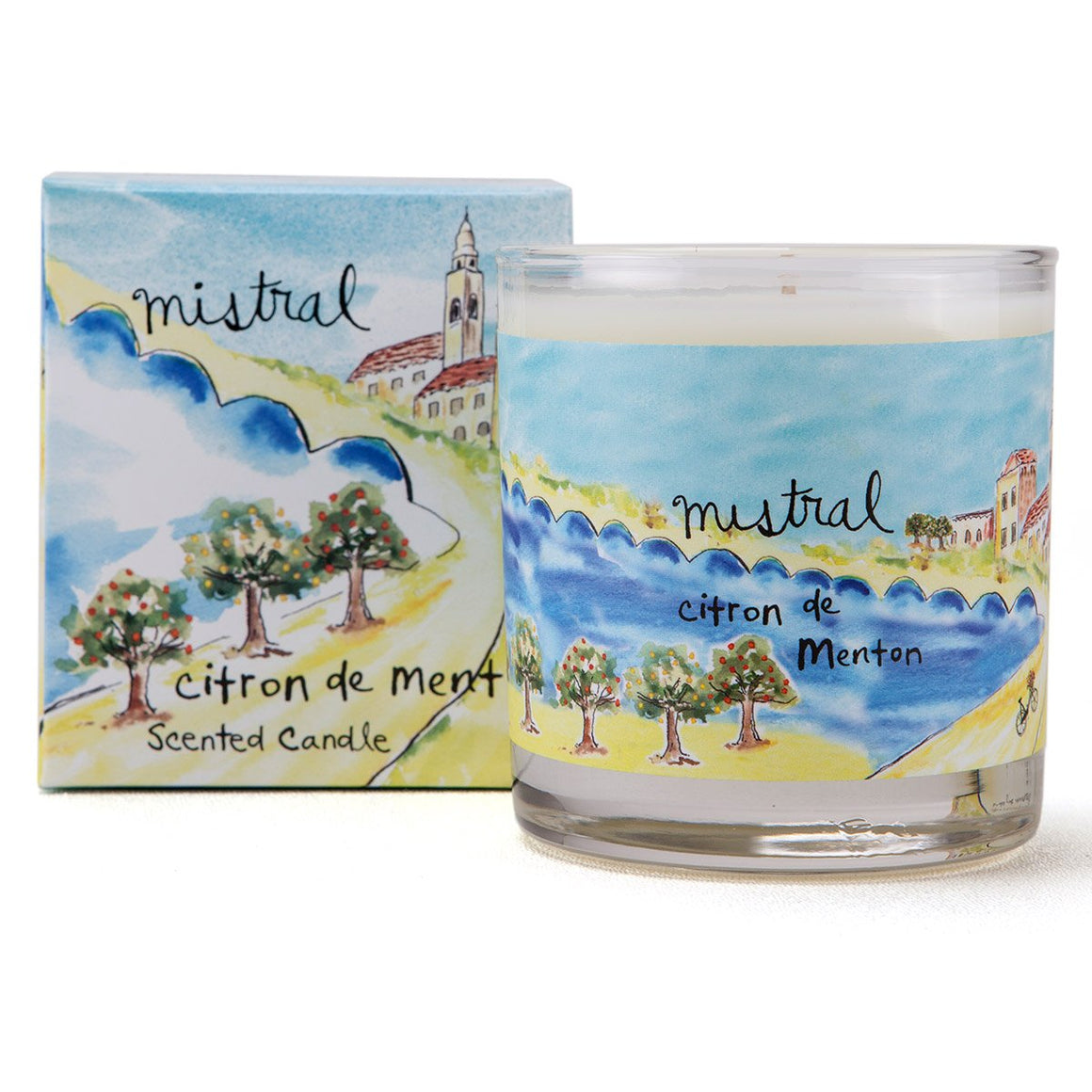 Menton Citrus Sur La Route Glass Candle