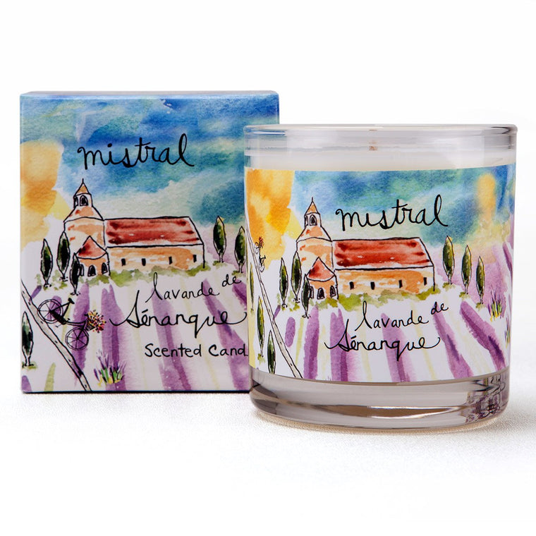 Senanque Lavender Sur La Route Glass Candle