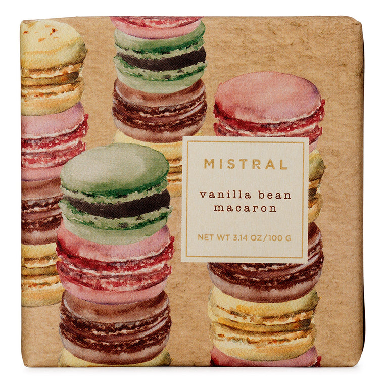 Vanilla Bean Macaron Holiday 100g Bar Soap