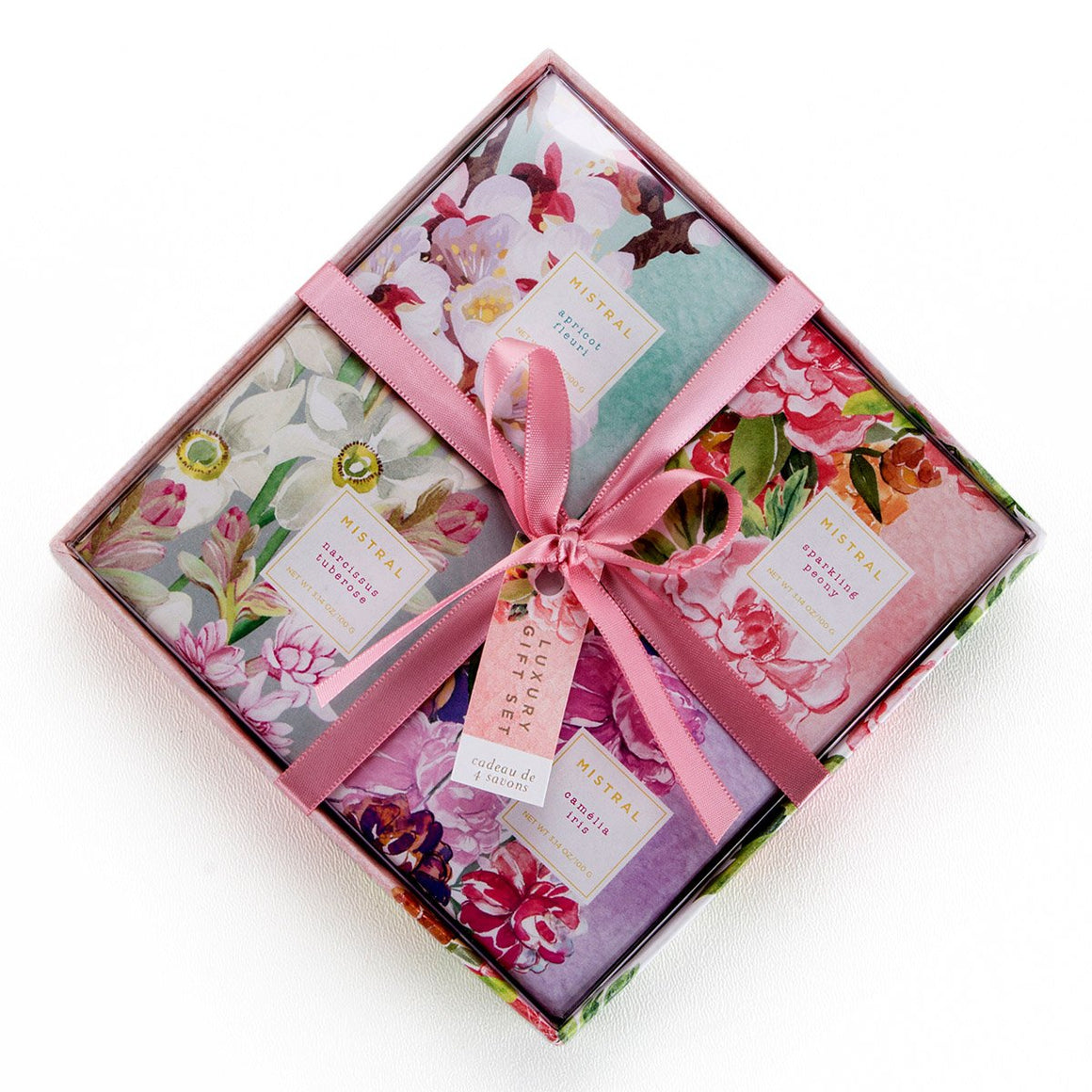 Exquisite Florals 4 Soap Gift Set