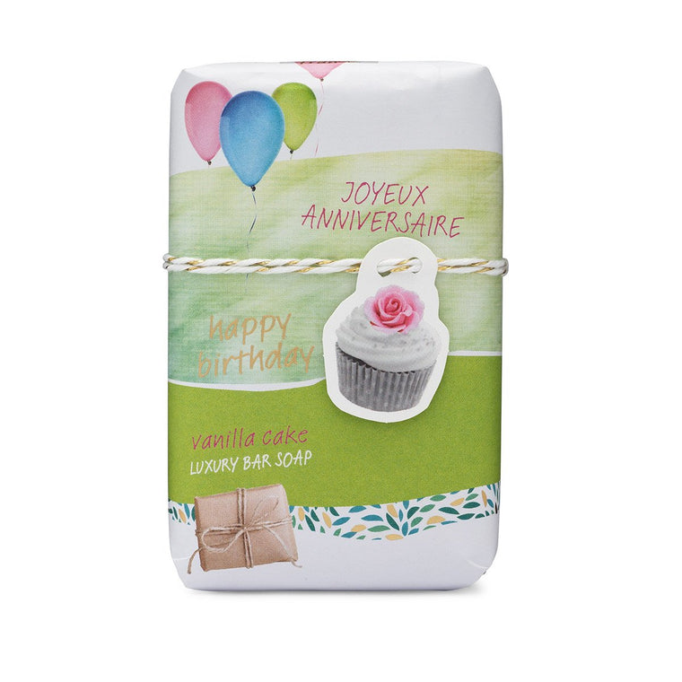 Joyeux Anniveraire - Happy Birthday Sentiments Gift Soap