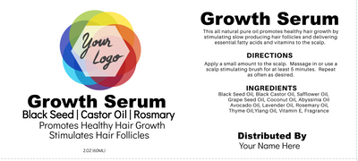 Editable Growth Oil Label