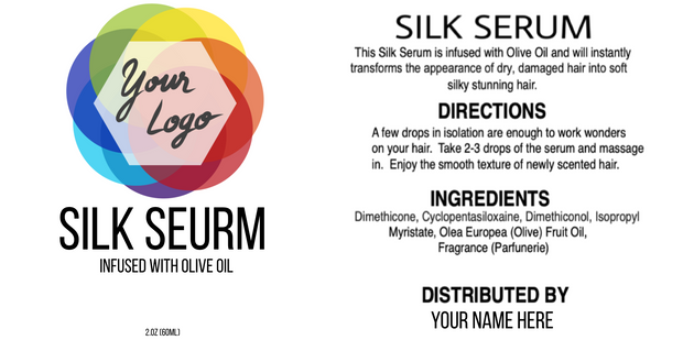 Editable Silk Serum Label