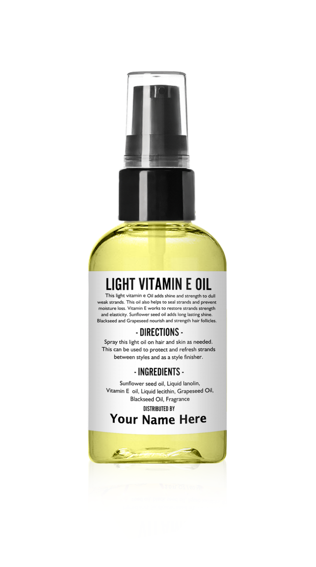 Vitamin E Hair and Body Oil  - Sold in set of 24 - No Labels included