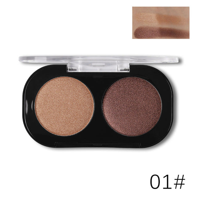 Party Queen Satin Matte 2 Colors Eyeshadow Palette