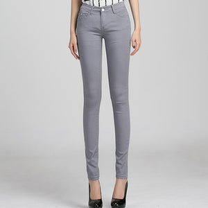 Gray Denim Skinny Jeans