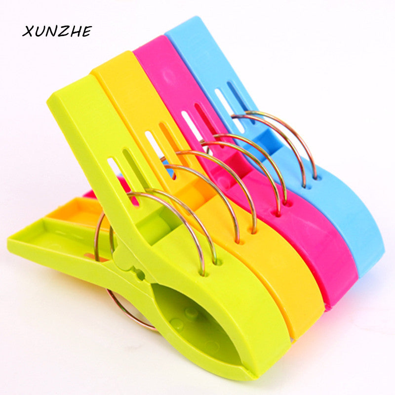 4Pcs/bag / Creative Color Clips / Beach Towel Clamp