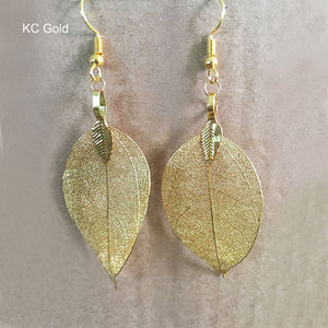 Each Earring is One of a Kind - Bohemian Unique Natural Real Leaf Earrings