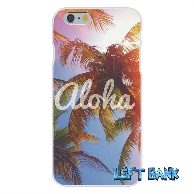 Hawaii Aloha Beach Art Soft Silicone Transparent Phone Cover Case