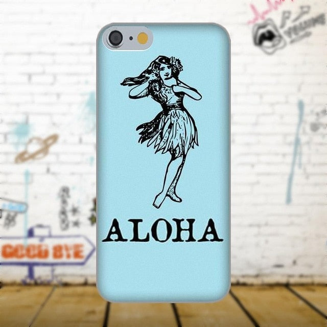 Aloha Phone Case - Hula Girl Blue